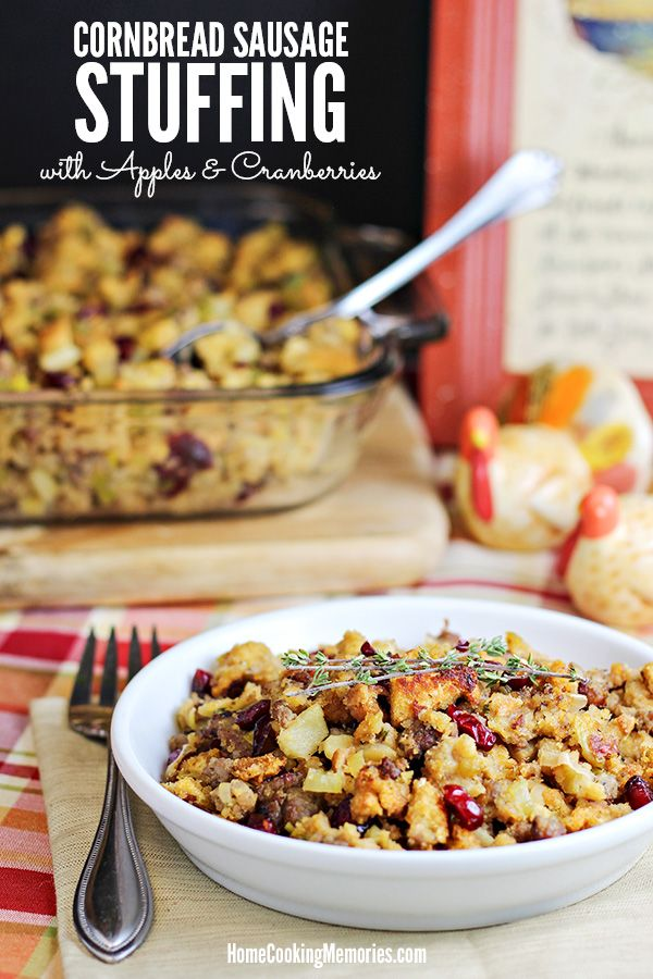 This Cornbread Sausage Stuffing recipe with Apples & Cranberries is a delicious side dish for Thanksgiving, Christmas, or Sunday dinner. Made with all the best stuff: cornbread dressing, sausage, celery, leeks, Granny Smith apples, and dried cranberries. It's almost here! Tomorrow is Thanksgiving — my most favorite of all the holidays. And with that, I'm bringing …