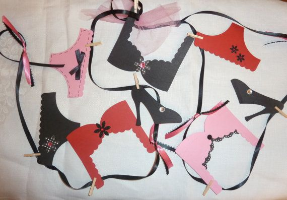 Bachelorette Party Decoration Lingerie Party by AllThingsTisha