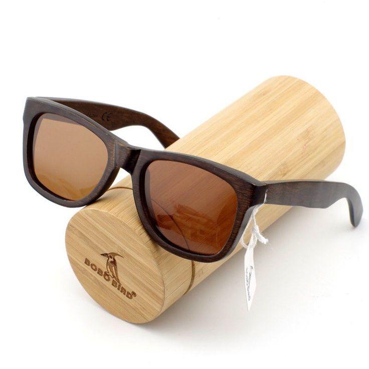 Men Wooden Retro Sunglasses; Polarized Lenses; Perfect Gift For Him;