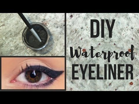 DIY | WATERPROOF Homemade Eyeliner - 100% Natural - YouTube