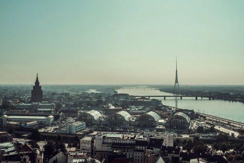 Aerial view of amazing Riga