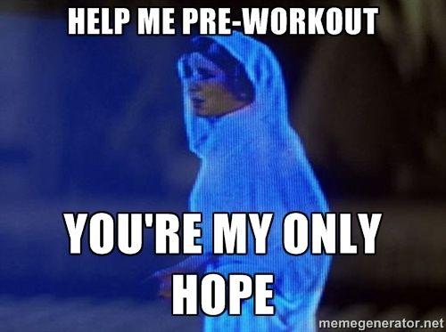 Princess Leia Hologram - Help me pre-workout You're my only hope #gymhumor