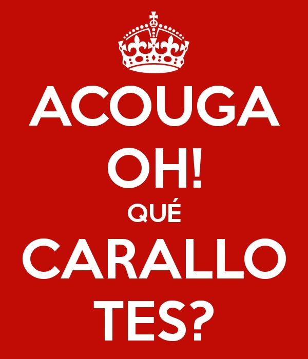 significado de la palabra gallega carallo - Buscar con Google