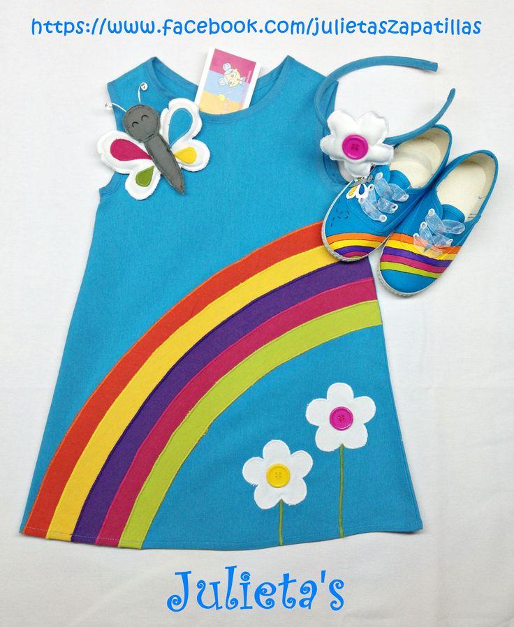 Vestido Arco Iris julietaszapatillas@hotmail.com https://www.facebook.com/julietaszapatillas