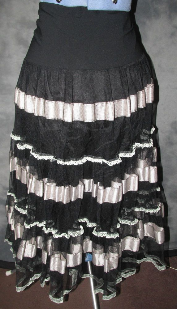 Monsoon,ladies,size 16,black,ivory,elasticated waist,calf length,Party,Skirt.