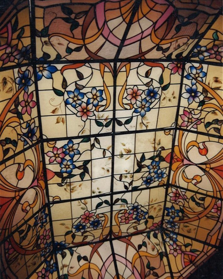 stained glass ceiling details realized by france vitrail international handmade from paper. Black Bedroom Furniture Sets. Home Design Ideas
