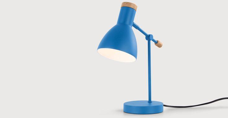 Cohen Bedside Table Lamp, Memphis Blue | made.com