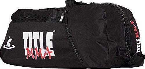 TITLE MMA World Champion Sport Bag/Back Pack, Black by Title Boxing. TITLE MMA World Champion Sport Bag/Back Pack, Black. One Size.