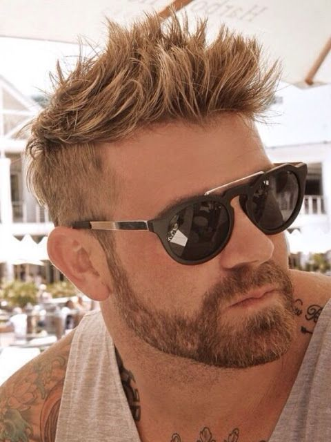 short hairstyles for men | undercut + beard  http://www.hairstylo.com/2015/07/short-hairstyles-for-men.html