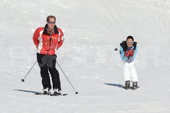 Pippa Middleton and George Percy, her new boyfriend, skied side by side in France.