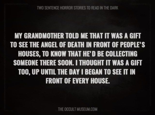 Most Terrifying Two Sentence Horror Stories