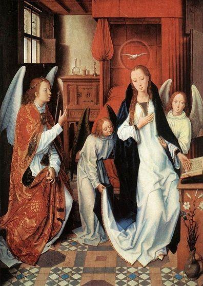 Rogier van der Weyden: Anunciación.