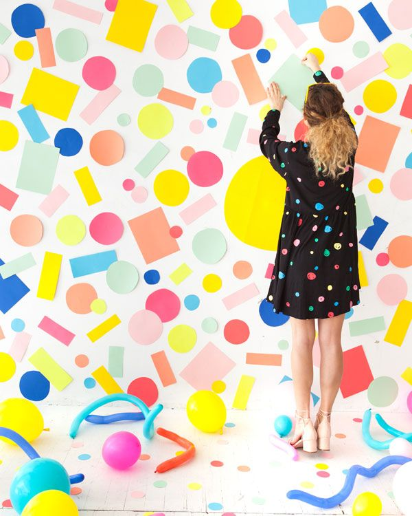 DIY Confetti Backdrop | Oh Happy Day!