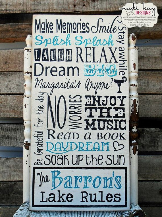 Inspired by vintage signs, our pool rules signs are the perfect addition to your personalized home décor collection. The following is the options