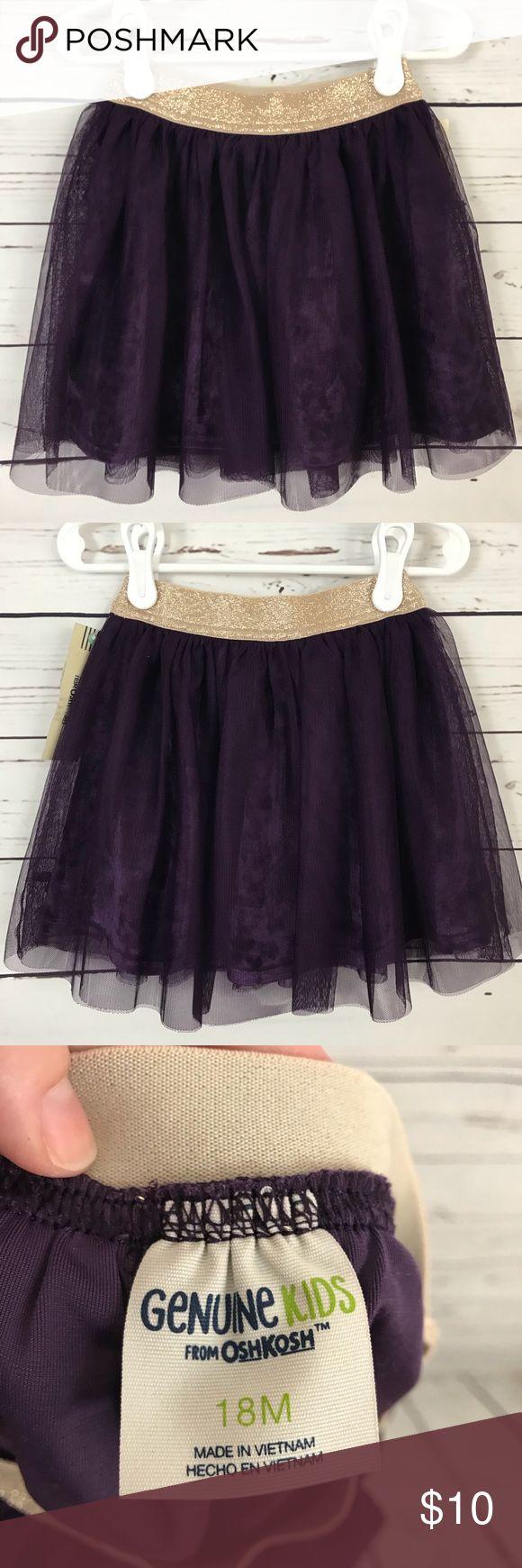 OshKosh Girls Skirt Girls tulle and velvet skirt in a rich purple currant color. Machine wash, tumble dry. Brand new!! Osh Kosh Bottoms Skirts