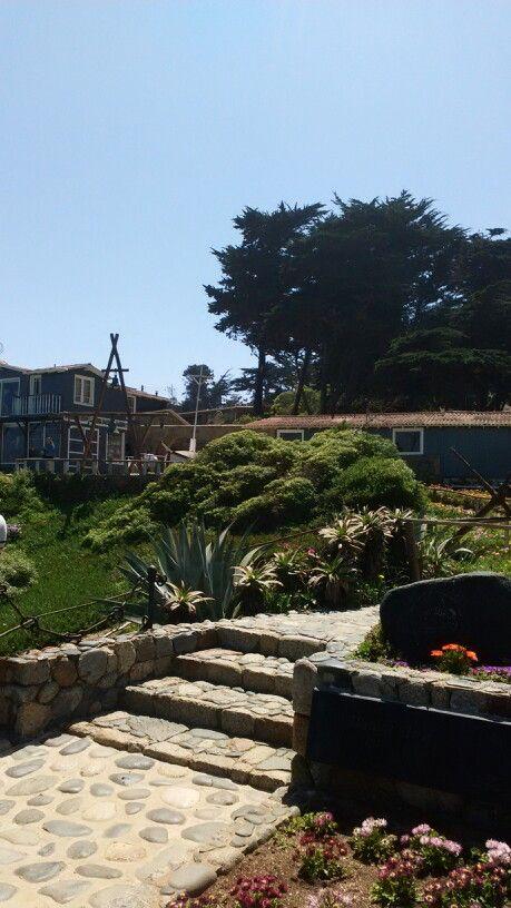 Casa del poeta Pablo Neruda en Isla Negra,donde yacen sus restos junto a su esposa Matilde Urrutia.