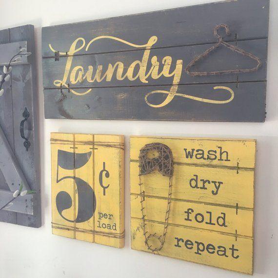 Laundry Room Sign 3 Pc Set Laundry Room Decor Wood Laundry Sign Rustic Laundry Room Decor Laundry Sign Wood Laundry Sign Fixer Upper Rustic Laundry Rooms Laundry Room Signs Primitive Laundry Rooms