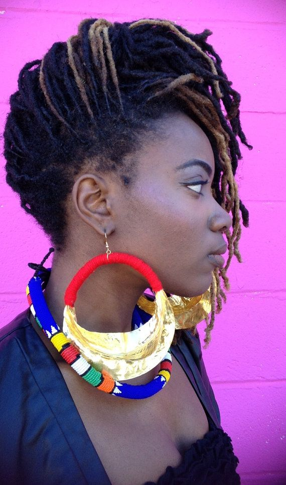 Jumbo Twisted Fulani Earrings Von Luxorcouture Auf Etsy
