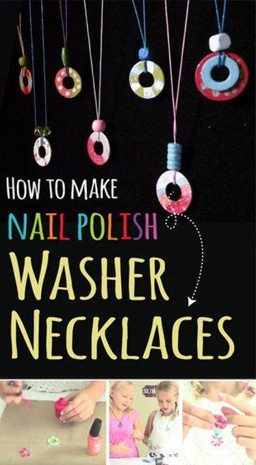Wie Nagellack Washer Halsketten machen – Market Day Ideas