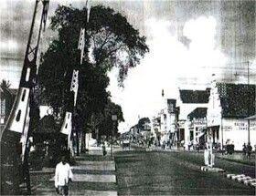 Teteg Sepur sebelah utara jl. Malioboro 1936, Jogyakarta