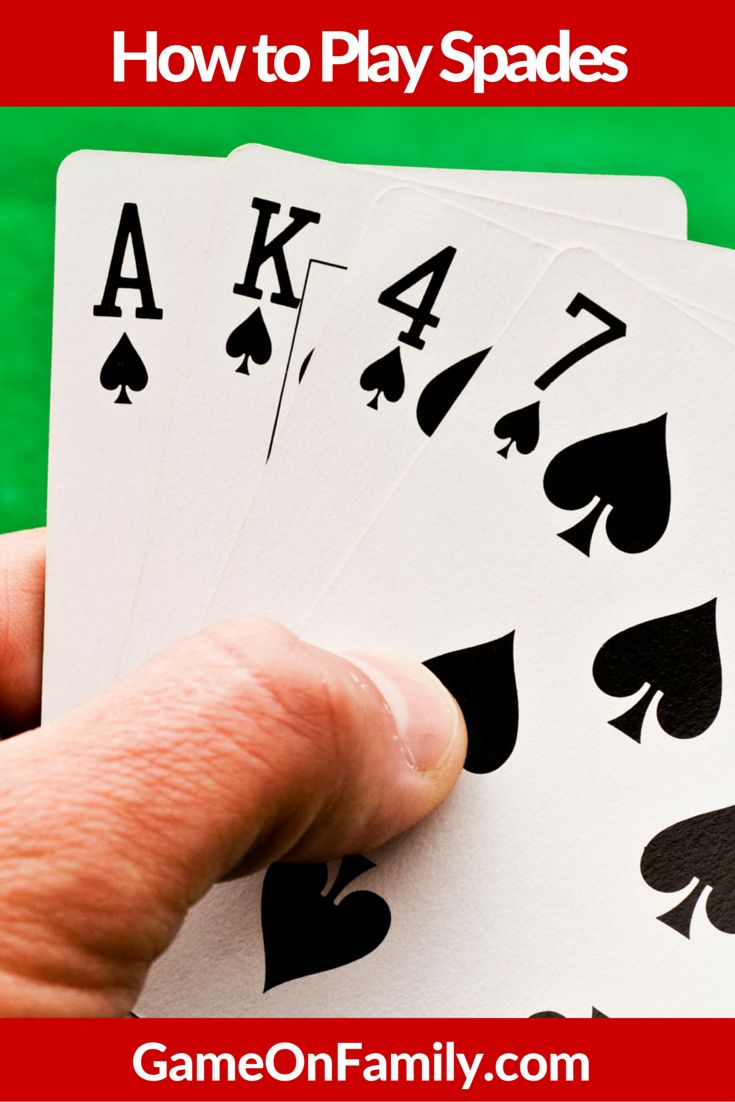 Love trick taking card games? Learn how to play spades at www.gameonfamily.com. Fun card game for family night during the holidays. Game on! #spades #cardgames #familyfun