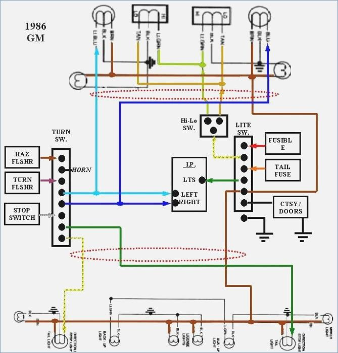 86 K10 Exterior Light Wiring Diagram Of 85 Chevy Truck Wiring