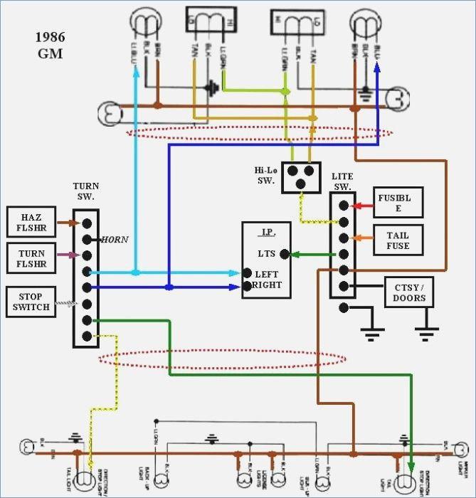 86 k10 exterior light wiring diagram of 85 chevy truck