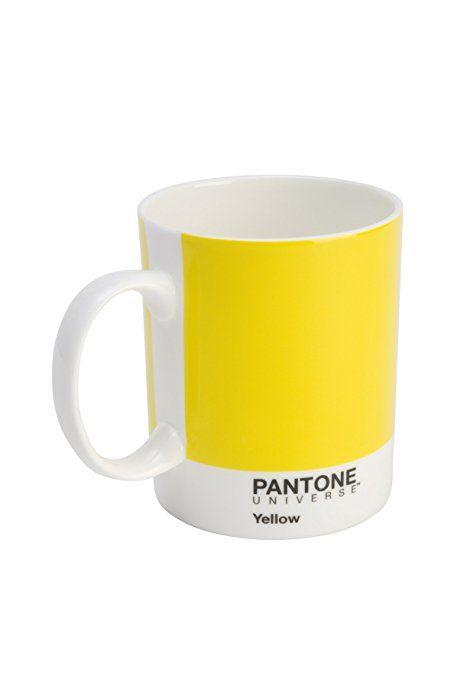 Amazon.com | Whitbread Wilkinson Pantone Bone China Mug, Custard Yellow: Coffee Cups & Mugs