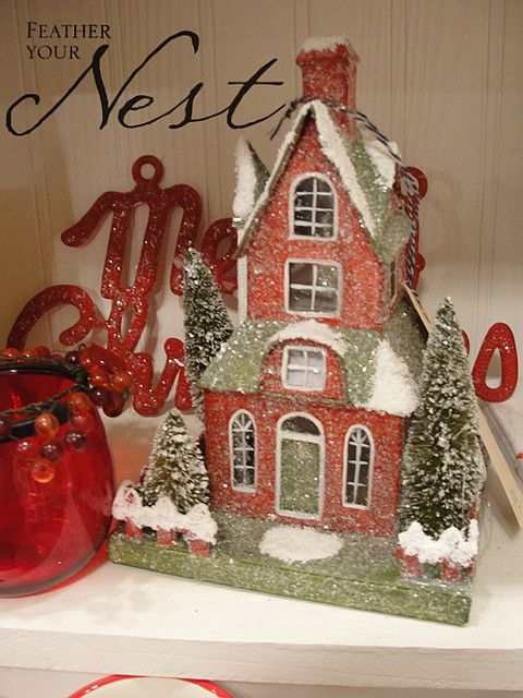 Christmas Houses by Feather Your Nest