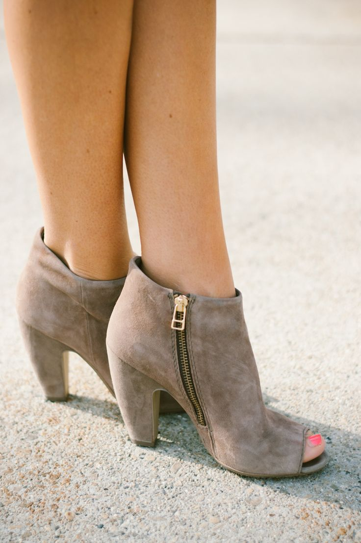 Steve Madden:The peep-toe bootie is a fun way to spice up a more or less  unsatisfactory outfit. Add a little spice to your life!