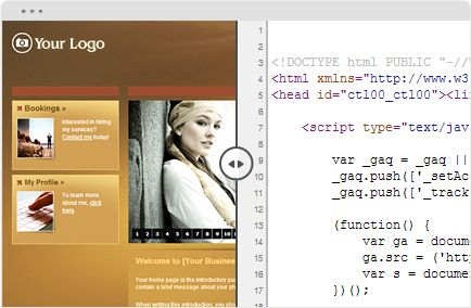 Photography web design in HTML 5 & CSS