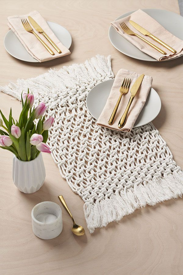 How To Practice Mindful Macrame And Make Your Own Placemat Macrame Patterns Tutorials Free Macrame Patterns Macrame Tutorial