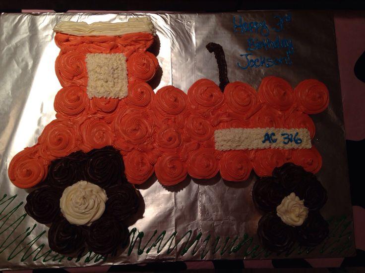 Allis Chalmer birthday cupcake cake :)