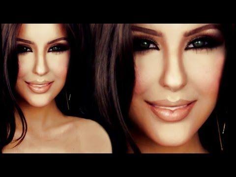 Kim Kardashian make up tutorial by Anastasiya Shpagina - YouTube