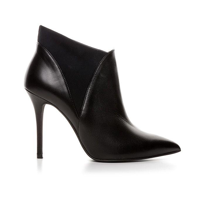 100434_BLACK LEATHER #mourtzi #shoes #booties #wearblack #classy #lycra #fw15