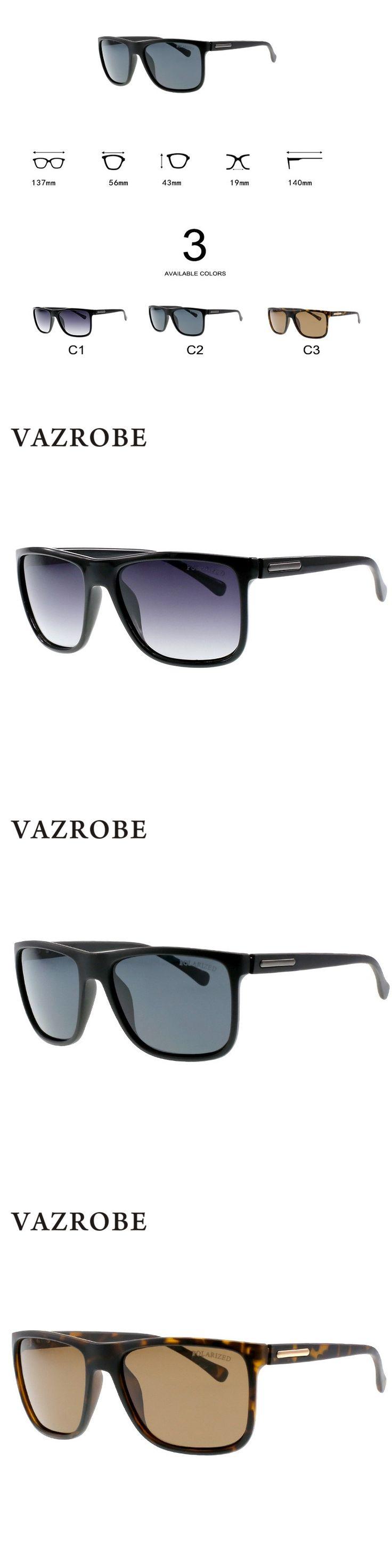 Vazrobe Brand 2018 Polarized Sunglasses for Men Black/brown Sun Glasses Male Driving Goggles Anti Glare UV400 Case Free Man