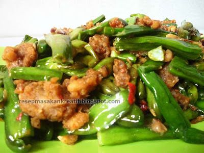 Resep Cobek Genjer Oncom Terasi | Resep Masakan Indonesia (Indonesian Food Recipe)