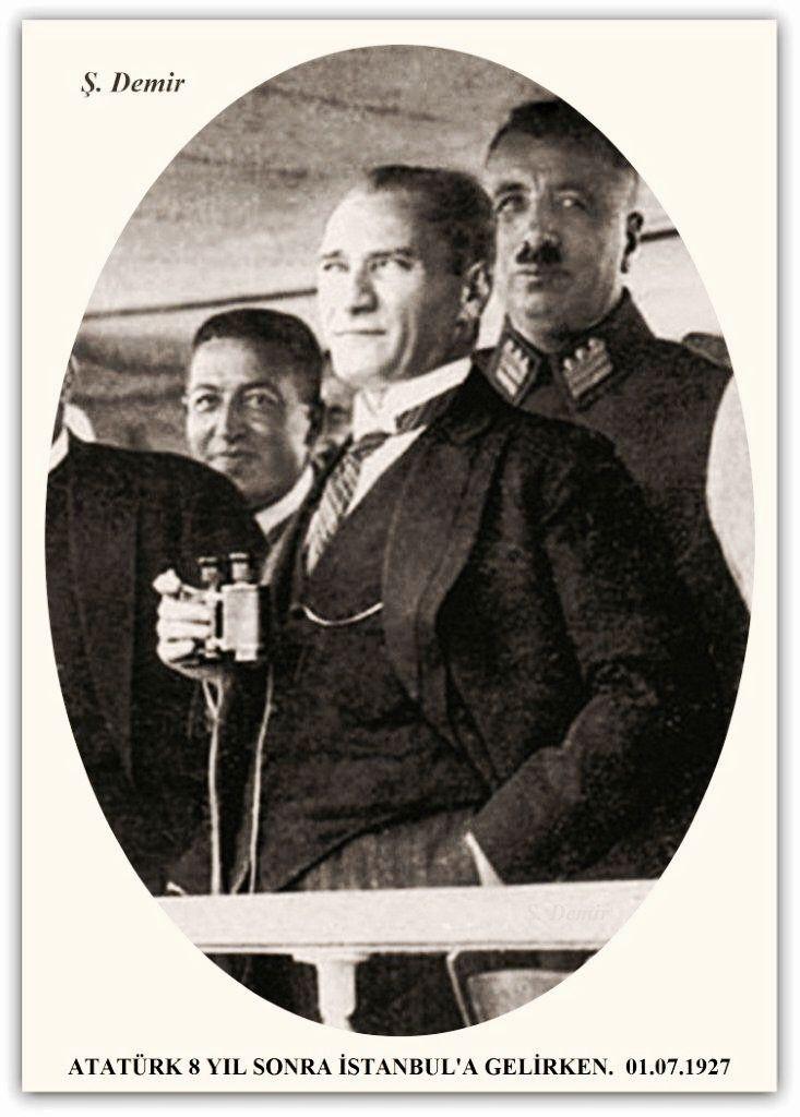 Atatürk 8 yıl sonra İstanbul'a giderken. 01.07.1927