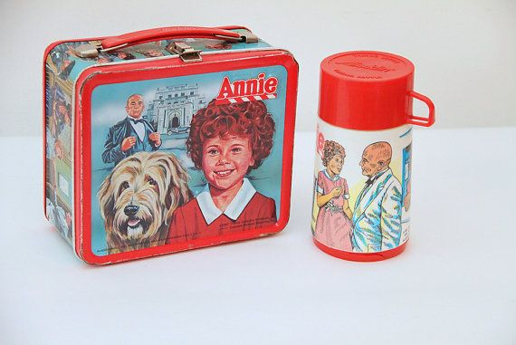 Vintage  Lunch Box  Metal  Annie Movie  by ESPRITVINTAGE on Etsy, $30.00