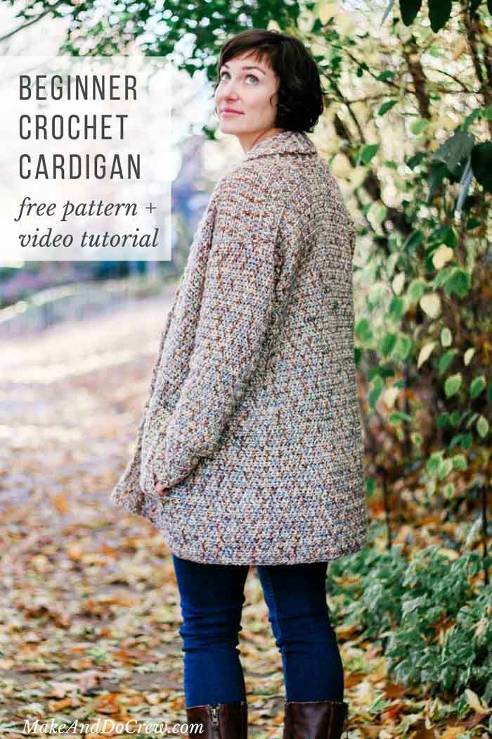 02ccb0d9e This cotton shawl collar cardigan is a perfect free crochet pattern for  beginners! You won t believe how easy this sweater is. Video tutorial  included.