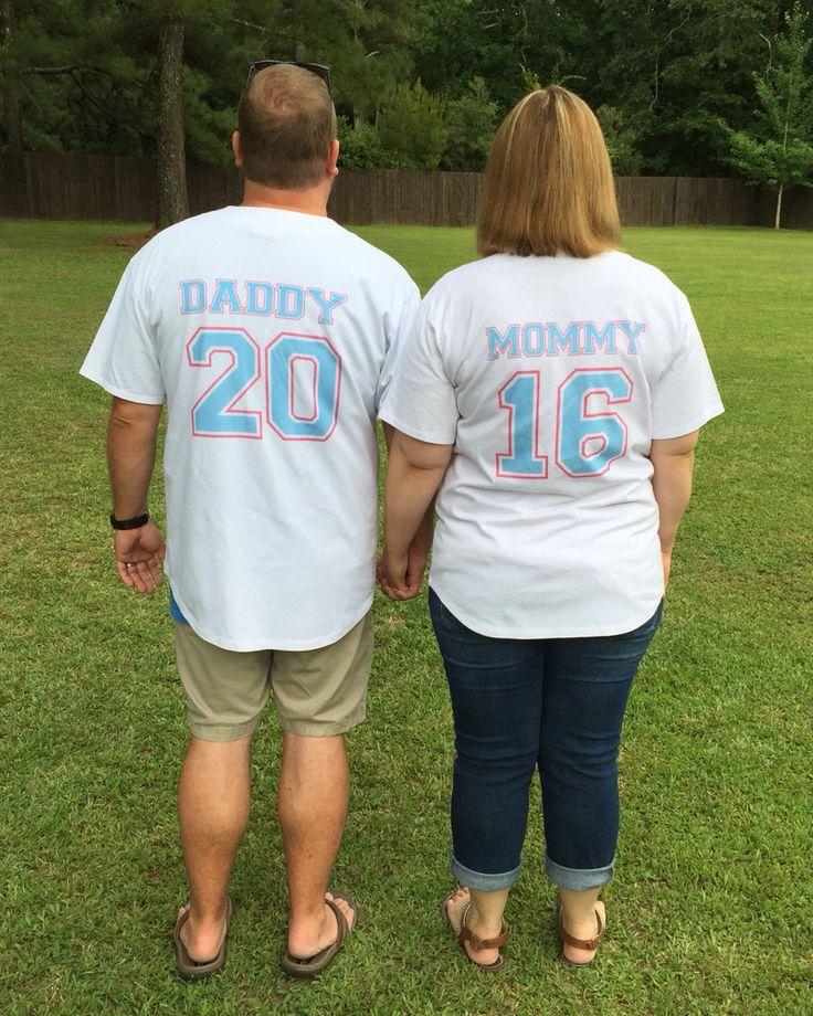 Baseball gender reveal custom jersey.