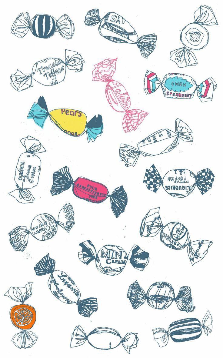 candy, wallpaper, pattern,