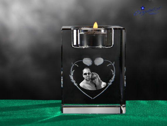 Crystal candle holder Crystal candleholder by Crystals3DEngraving
