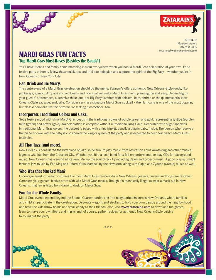 Mardi Gras Trivia. Mardi Gras Masks