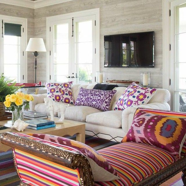 Beautiful Colorful Living Rooms: 206 Best Color . Boho . Eclectic . Chic . Interiors Images