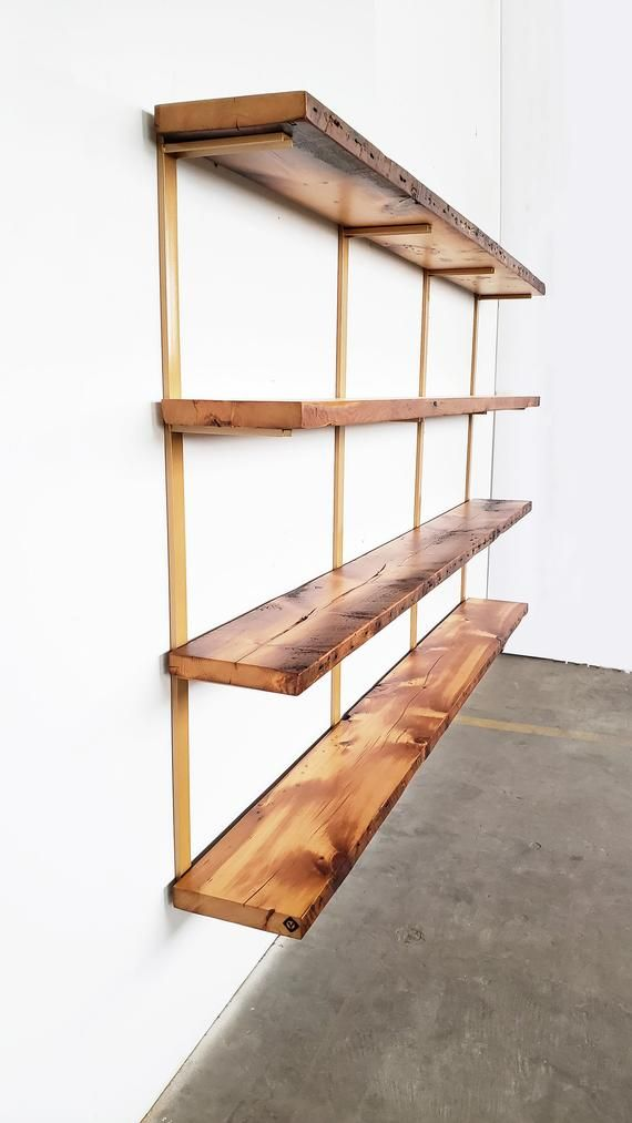 Wall Mounted Shelving Unit 4 Shelf Modern Wall Shelving Etsy Wall Mounted Shelves Modern Shelving Wall Mounted Shelving Unit