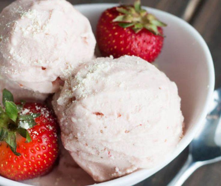 Strawberry Lemon Cake Batter Frozen Yogurt recipe by I Heart Naptime