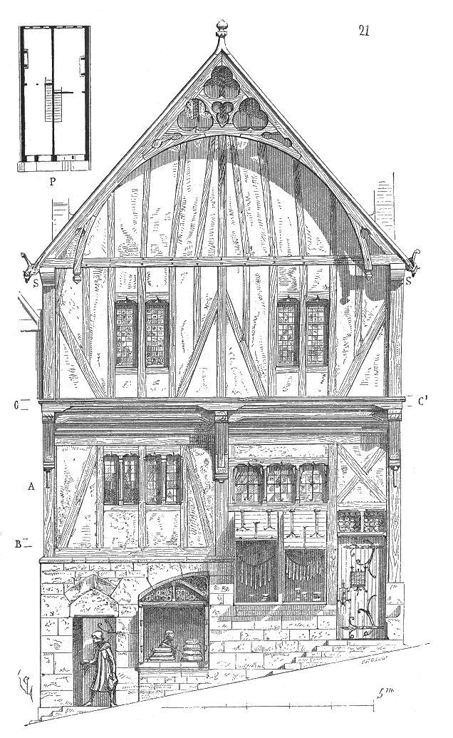 Maison.bois.Laval.png | Moyen âge : habitation | Pinterest ...