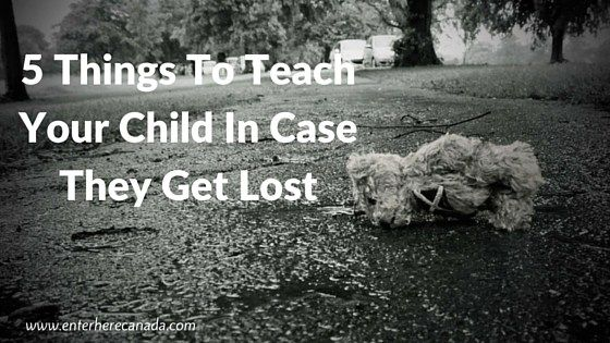5 Things To Teach Your Child In Case They Get Lost