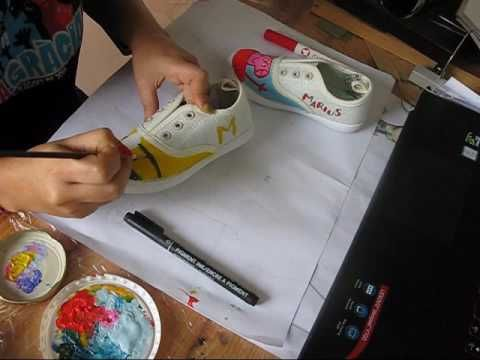 Shoe Painting Time lapse Minions and Pepapig